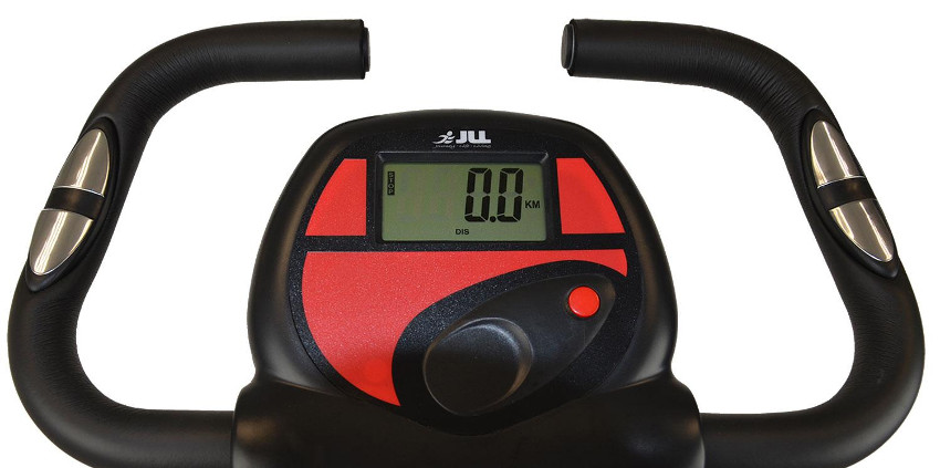 табло велотренажёра с нулевыми указателями